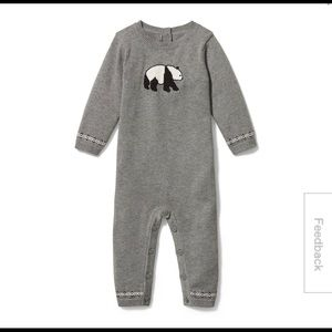 Janie and Jack Baby Panda Sweater 1-Piece